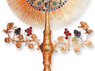 Monstrance made by Gdańsk goldsmith Krystian Schubert II