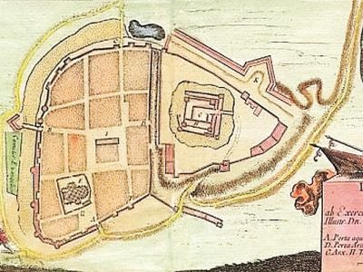 City plan 1655 made by master Dahlberg
